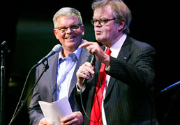 George Bilgere and Garrison Keillor on A Praririe Home Companion